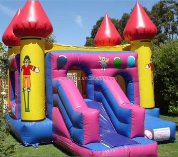Yellow used bouncy castles for sale/bouncer with slide