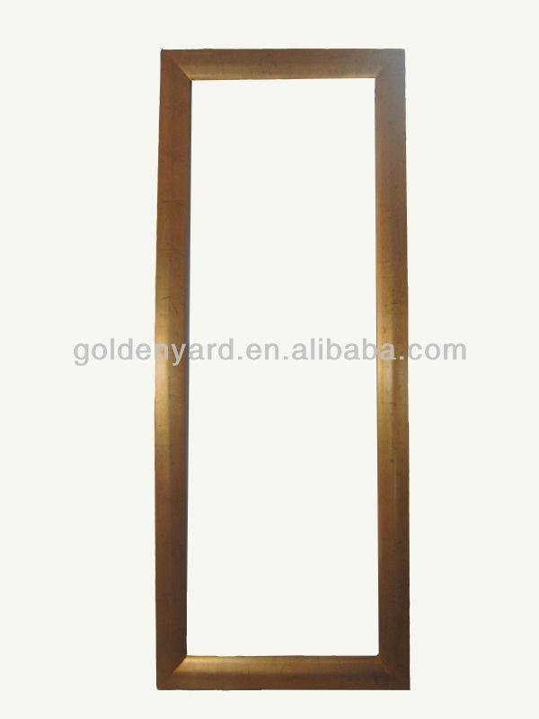 Moderno de madera rect ngulo marco con espejo de oro antiguo Espejos con marco de madera modernos