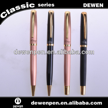 Metal personalized black ink pens as gift pens