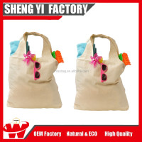Customizable Foldable Cotton Muslin Shopping Tote Bags