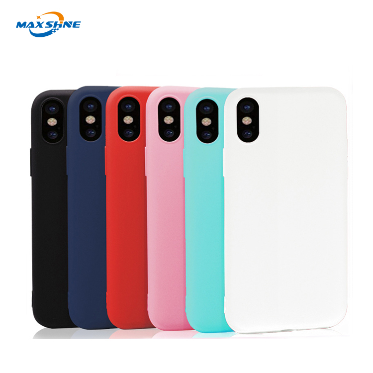 High protective color soft matte TPU mobile phone case for iphone x