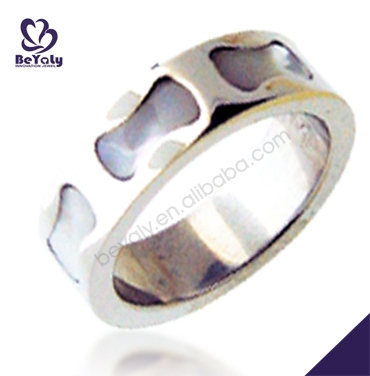 Stainless steel custom engraved foot finger ring