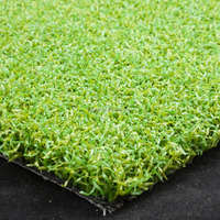 "Pile height 10mm 3/16"" Gauge PP+mesh fabric backing synthetic turf for landscape and sports"