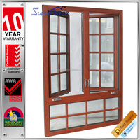 Australia AS2047 standard high quality obscure glass aluminum casement window design with decoration bars
