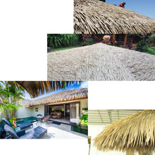 Decorative palm leaves for tiki hut roof