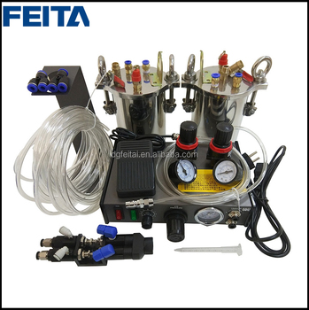 FEITA Semi-suto Glue Dispenser A B Mixing Doming Liquid Glue Dispensing Machine Equipment for Epoxy Resin
