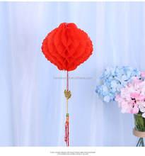 Wholesale waterproof red hanging paper lantern for Chinese New Year