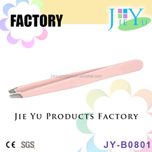 Wholesale Makeup Stainless Steel Slant Tip Eyebrow Tweezers