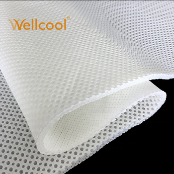soft cooling warp knit 100 polyester spacer fabric