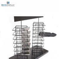 Merchandising Metal Tower Display Stands With Popular Style