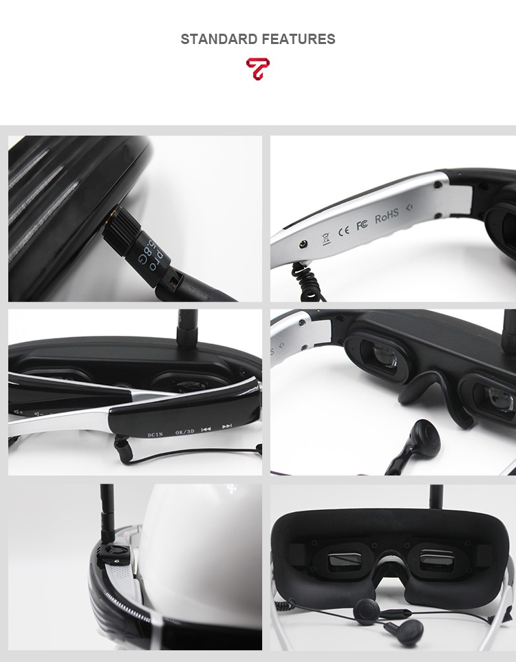 5.8G video glasses Goggles Eyewear Glasses 5.8G video eyewear
