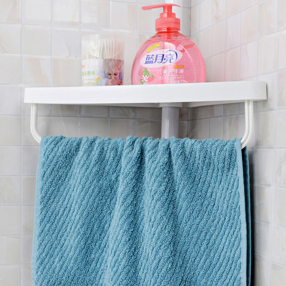 Plastic Bathroom Corner Rack With Towel Bar - Buy Bathroom Rack ...