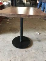 glass writing office table 6mm thickness round