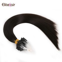 Factory price various color 100 human hair silicone lined micro ring micro link micro beads hair extension