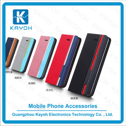 [kayoh] phone case pu material leather flip cover book opening case for iphone 6