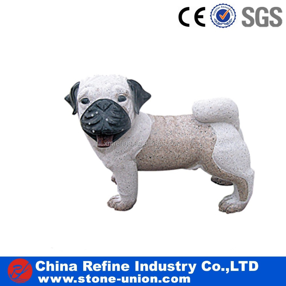 Natural granite small dog animal statues for decoration
