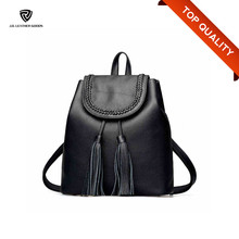 Girls Black New Leather Design Manufacture Backpack Bags