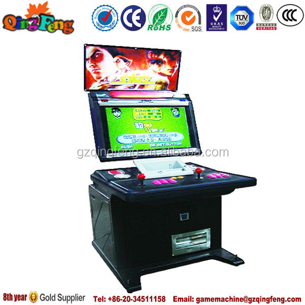 Qingfeng interesting arcade game video machine coin operated games for kids