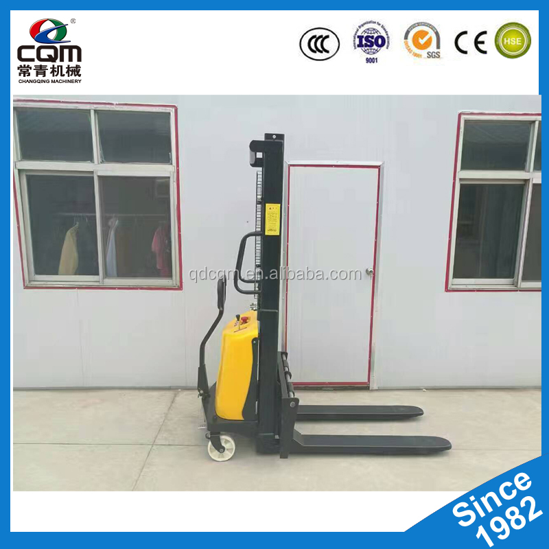 High Lift Pallet Truck Semi/Auto Electric Forklift