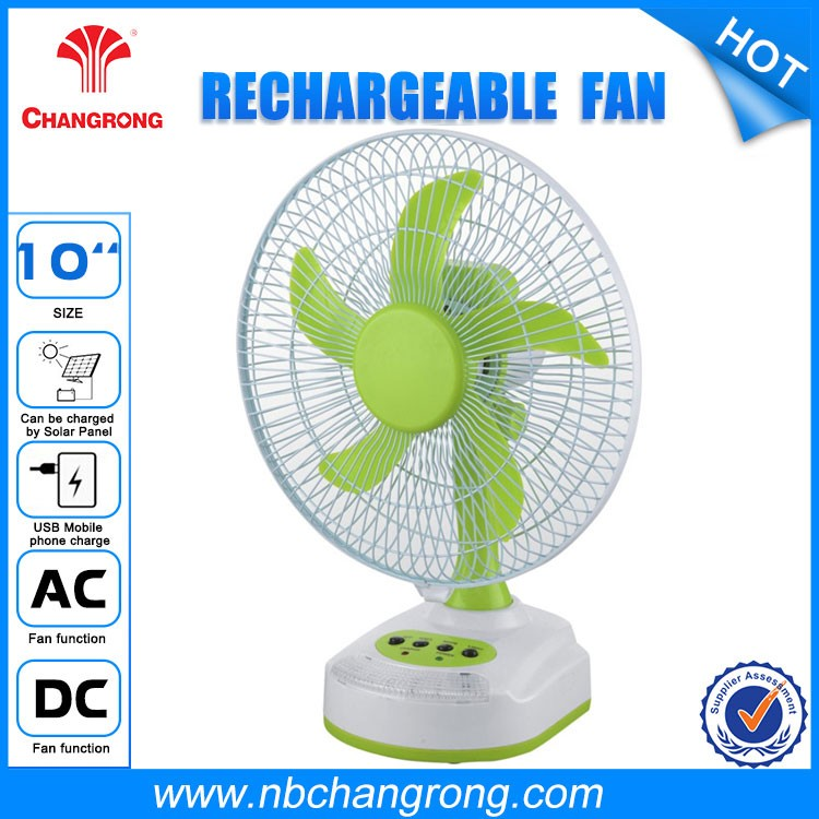 "10"" electric led rechargeable emergency fan With mobile charger"