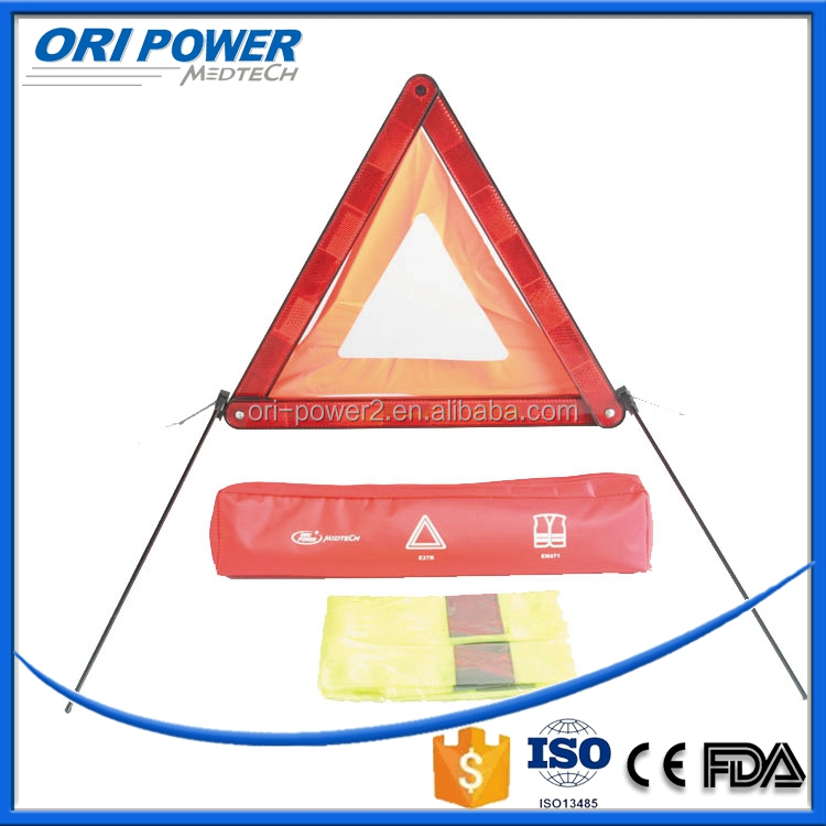 OP CE FDA ISO medium 1000D nylon emergency car kit with Warning Triangle