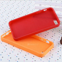 Blank color bright rubberized case for iphone5 tpu skin 2013 new product mobile phone case
