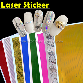 Factory direct sales excellent quality new laser strip adhesive sticker