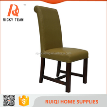 high back pu wooden dining chairs for family