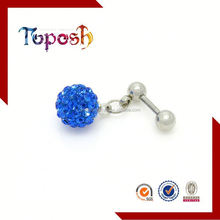 Unique Polymer Clay Ball Dangle Labret Stud Lip Piercing Barbell Jewelry