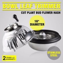 New Bud Trimmer- 16-inch Leaf Trimming Hydroponic Spin Cutter, Medicinal Herb and Flower Trimming Machine, a U.S. Product