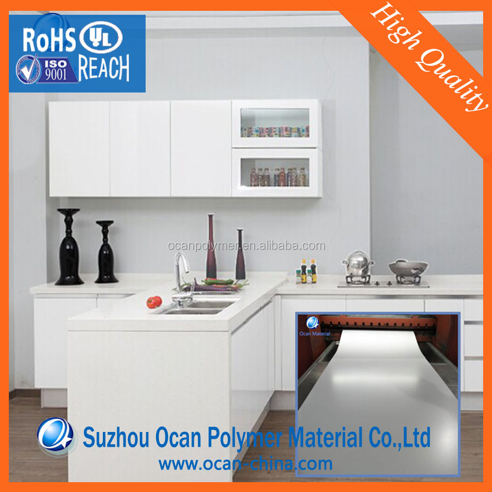 Bulk Matte White Waterproof PVC Lamination Plastic Sheet For Kitchen Cabinet Decoration