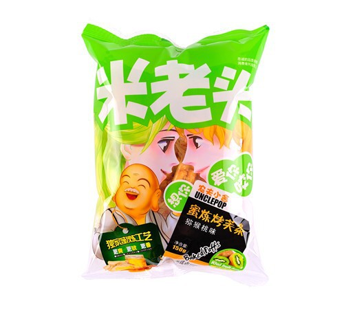 uncle pop snack, sachima,kiwi fruit flavor