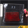 Populer new design recycled clear makeup bags waterproof pvc cosmetic bag with zipper