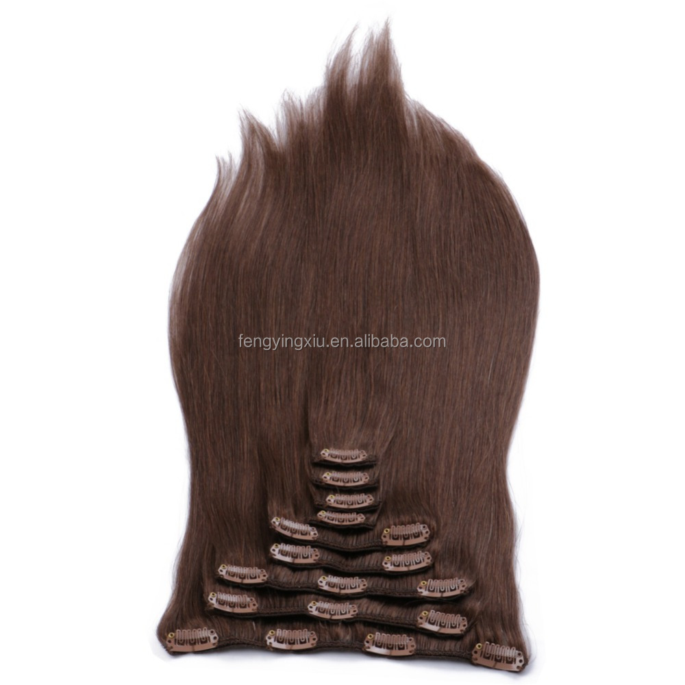 hot new products Various High Quality human hair Clip in White Hair Extensions