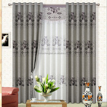 100% polyester embroidery different styles of blackout conference room curtains