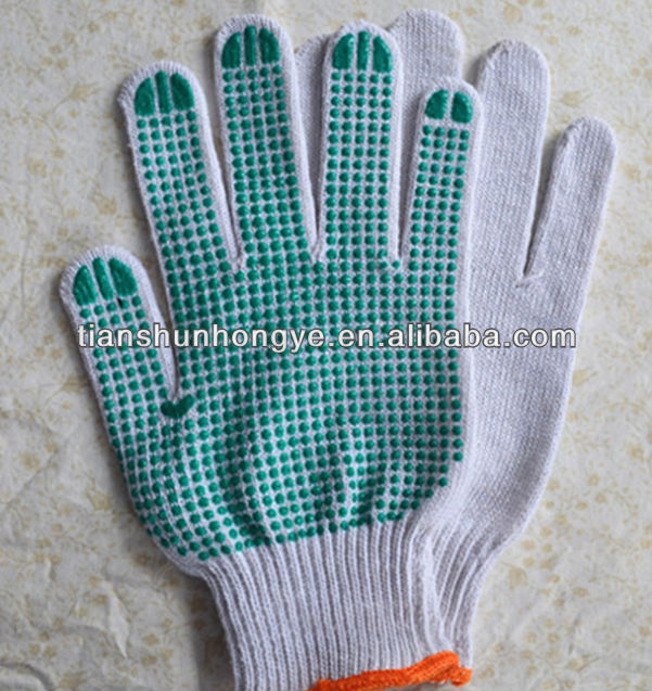 Cotton liner pvc dotted freezer gloves