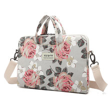 Business 17inch laptop computer sleeve shoulder bag with rose flower pictures