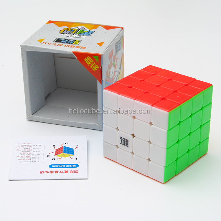 New Brand KungFu YuMo CangFeng 4x4x4 Stickerless Magic Cube Twsit Puzzle Educational toys for kid