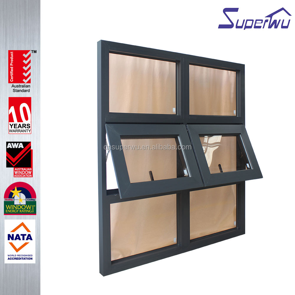 Guangzhou Factory Aluminum Top Hung Window with Competitive Price