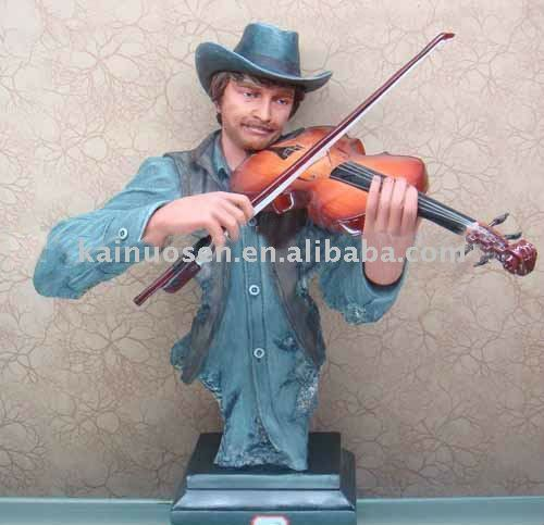 Hotsale resin jazz statue for home dec