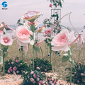 Hot sale fashion environmental crepe paper peony unusual artificial flower decoration wall