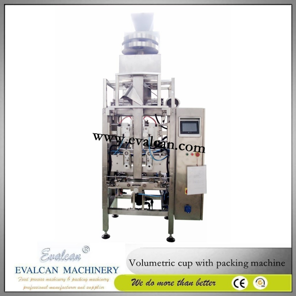 Automatic small biscuit weighing packaging machine