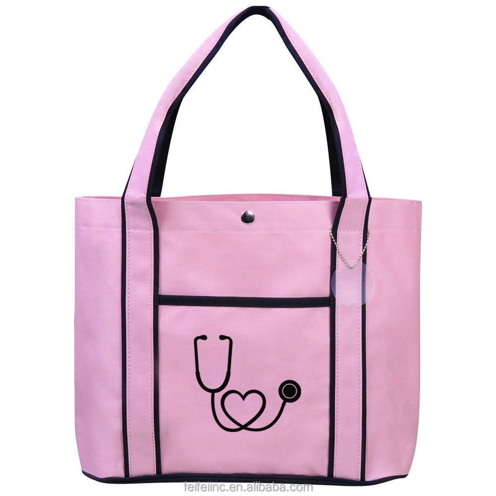 Reusable polyester material shopping handle tote style bag wholesale