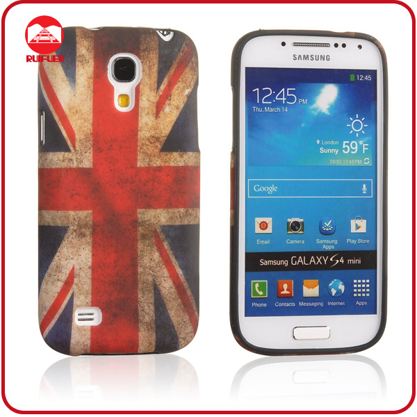 Retro Flog OEM Printing TPU Cell Phone Cover Case for Samsung Galaxy S4 Mini