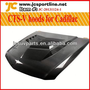 America D2 style carbon engine cover for Cadillac CTS-V hoods auto front bonnet