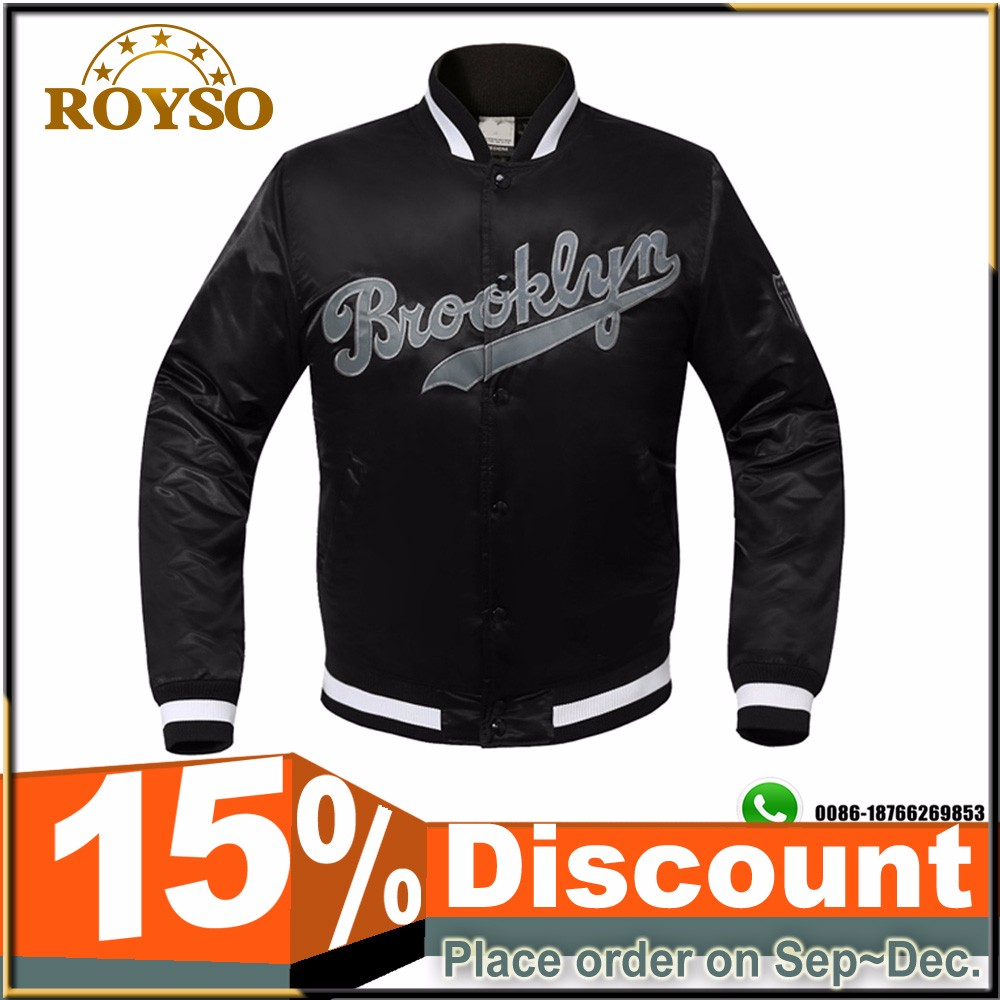 Custom Wholesale Satin Baseball Puffer Jacket Winter Clothes Men's Nylon Baseball Bomber Padded Jacket Wholesale Manufacturer