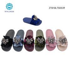 Outdoor Designer Bow Tie Straps Rhinestone Women Slippers Sandals Flip Flops