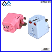 2016 latest gift items Dual USB Universal Travel Adapter as gift items for advertising