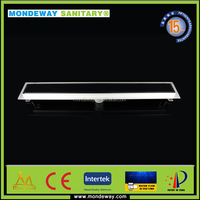 floor tile high flow easy drain 50mm Outlet Pipe and length 700mm Stainless Steel Linear Shower