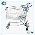 150L Aisa shopping trolley carts with silver colour for middle East